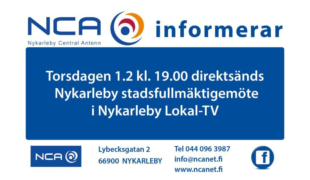 NCA informerar Stadsfullmäktige 1.2-01