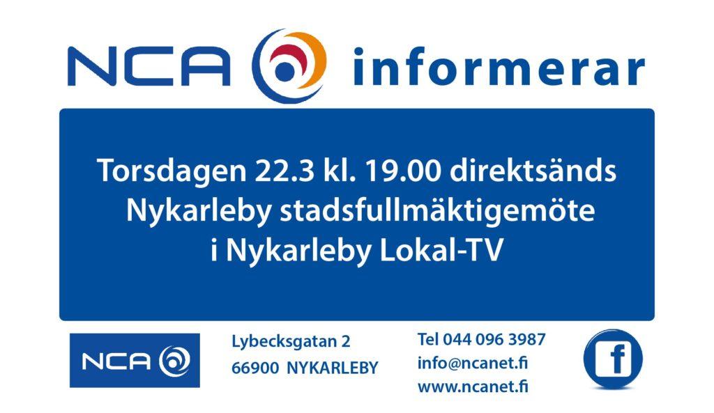 NCA informerar Stadsfullmäktige 21.3.2018-01